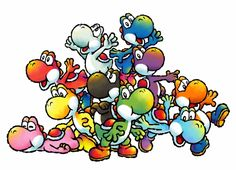 Yoshis are a species in the Mario and Yoshi series. Yoshis as a species have appeared in several more games that the characters known as Yoshi. (And they are flippin adorable! Super Mario Kunst, Super Mario Art, Super Mario World, Mario Brothers, Mario Bros, Counted Cross Stitch Patterns, Cross Stitch Embroidery, Cross Stitches, League Of Legends