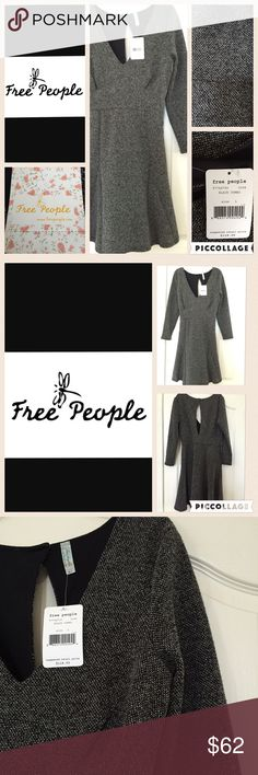 Free People New With Tags Dress Size L This is a gorgeous new dress - lightweight fully lined ️Size large.  Empire waist - 36 inch from shoulder to hem, 15 inch at waist laid flat.  Sleeve is 21 inches long.  Don't miss this dress Free People Dresses Midi
