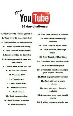1c6da55fd4d The youtube 30 day challenge Q And A Questions