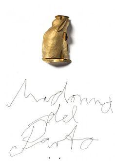 Manfred Bischoff - Madonna del Parto  2012 Brooch  Fine Gold, mixed media on cardboard