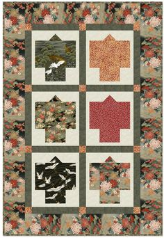 oriental quilt patterns - free | ... Blog: Tranquility Collection FREE pattern now on Kona Bay website