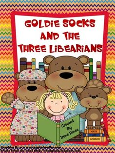 """Goldie Socks and the Three Libearians is a retelling of the classic fairytale, Goldilocks and The Three Bears. This book is the perfect story for children (and their parents) to understand what """"just right book"""" reading is all about. Choosing a """"just right"""" book is an important skill for all students."""
