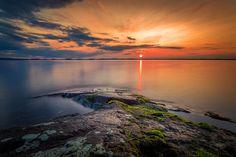 "Summer evening in Finland - Image was taken at Vanjanniemi, Hämeenlinna, Finland  <p><a href=""www.facebook.com/laurilohiphoto"">Follow me on Facebook</a></p>"