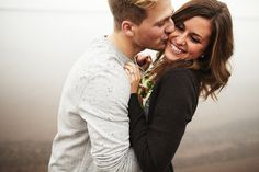 Kiss on the cheek | Smile | Couples and engagements photography