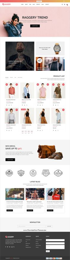 Raggery is clean and modern design 6in1 responsive #Shopify #theme for stunning fashion #store eCommerce website to live preview & download click on Visit