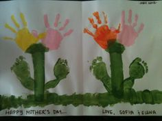 Julia was inspired this Mother's Day to make a project with the two children she teaches, a 3-year-old girl and 10 month-old girl. This is a great craft for the little ones that mothers will adore.   Contributor: TeacherCaregiver Julia Caldarola