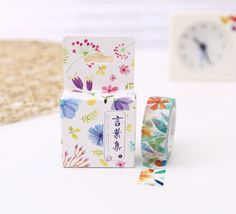Flowery Leaves Watercolour Japanese Washi Tape, Masking Tape, Scrapbooking Stickers, Planner Stickers, Decorative Stickers - WT098 by Callicrafty on Etsy https://www.etsy.com/ca/listing/292069215/flowery-leaves-watercolour-japanese