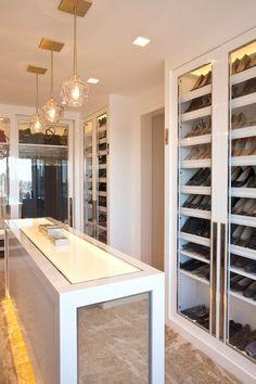 Melanie Fascitelli - closets - walk in closet, closet, luxurious closet, floor to ceiling cabinets, sliding doors, closet with sliding doors...