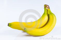 Close up of  Bananas on white background.