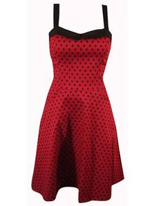 SWITCHBLADE - SAILOR SWING POCKET DRESS RED POLKA DOTS