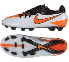 Nike Total 90 Laser IV FG Mens Firm Ground Soccer Cleats( White Black Total  Orange) bdfa4f71e41d