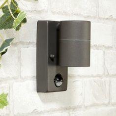 Dan Outdoor Wall Light with PIR Sensor - Anthracite