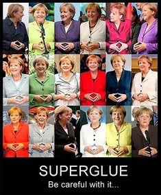 Angela Merkel and her superglue