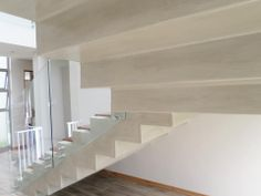 Cemcrete cement-based floor finish used for stairs