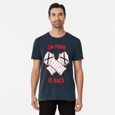 Cm Punk, Large Prints, Tshirt Colors, Fitness Models, Tees, Fabric, Mens Tops, How To Wear, Cotton
