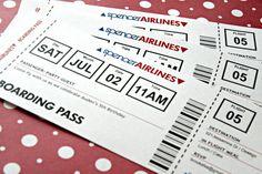 Airplane Ticket Invitation