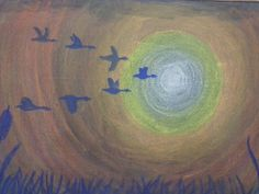 Prairie Moon Waldorf School We think it's coming. Lawrencians did you feel it in the air this morning? Perhaps, just perhaps Autumn is approaching. Chalkboard drawing by Ms. Schacht, 2nd-3rd grade teacher.