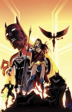 """zatannawayne: """"Recommended Readings : Justice League Beyond - Batman Beyond Those are the sequels to the DC Animated Universe of Earth 12 Description? Comic Book Covers, Comic Books Art, Comic Art, Bob Kane, The Wicked The Divine, Arte Dc Comics, Star Comics, Hawkgirl, Mundo Comic"""