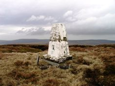 The trig point on Whins Brow in the Forest of Bowland