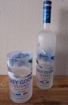Recycled Grey Goose Vodka Bottle Drinking by ConversationGlass, $18.00
