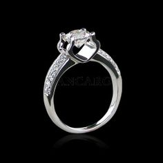 Luxury 1.01 CT Cubic Zirconia 925 Sterling Silver Platinum Plated Women's Ring