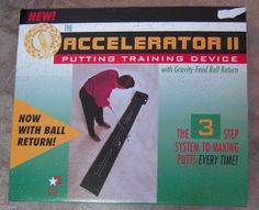 For the Golfer! Golf Accelerator II Indoor Putting Training Device System Gravity Ball Return