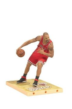 """McFarlane Toys NBA Series 19 Carlos Boozer Action Figure by McFarlane Toys. $11.95. Jersey color may vary from image as rare Collector Level figure features an white jersey. Figure is featured in new team uniform. Figure comes with a basketball. Figures stands approximately 6"""" tall. Power forward for the chicago bulls. From the Manufacturer                McFarlane Toys is proud to present their newest line of NBA Stars. NBA 19 features 'faces in new places'. Shaquille O'Neal,..."""