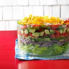 Mexican Layered Salad Recipe from Taste of Home -- shared by Joan Hallford of North Richland Hills, Texas