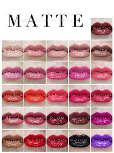 Matte LipSense colors for 2017