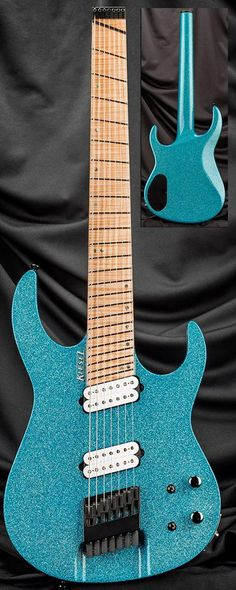 Kiesel Guitars Carvin Guitars    Chris Letchford signature guitar  Aqua Sparkle CL7