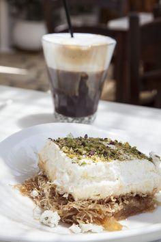 Ekmek Kantaifi & Freddo Cappuccino Camembert Cheese, Greece, Sweets, Food, Sweet Pastries, Goodies, Essen, Candy, Treats
