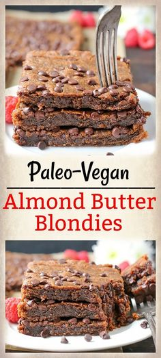 These Paleo Almond Butter Blondies are rich, ultra fudgy, and so delicious! Egg free, vegan, gluten free, dairy free, but no one will be able to tell!