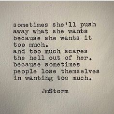 Too much. Order my debut book, In My Head, today through Amazon. #jmstorm #jmstormquotes #inmyhead