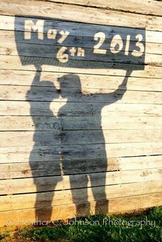 Save the Date - Photo Idea... This would also be cute as a pregnancy announcement.