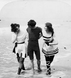 vintage everyday: Vintage Bathing Beauties Belles from Late 19th Century to 1930's