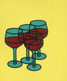 Wine Glasses 1969 by Patrick Caulfield - Tate prints, Tate canvas prints, Tate framed prints Pop Art, Illustrations, Illustration Art, Gcse Art, Art Design, Book Design, Light In The Dark, Still Life, Screen Printing