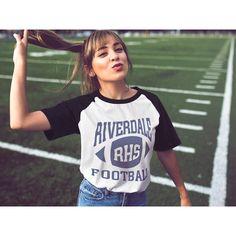 2018 Girls Fashion Summer Style Riverdale T-Shirt For Female Riverdale Tops Short T-shirt Women Comfortable Harajuku Kawaii Riverdale Shirts, New Riverdale, Riverdale Fashion, Riverdale Funny, Team T Shirts, Football Shirts, Football Team, Football Season, Girl Fashion