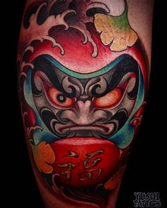 "2,496 Likes, 6 Comments - Japanese Ink (@japanese.ink) on Instagram: ""Japanese daruma doll tattoo by @yushitattoo. #japaneseink #japanesetattoo #irezumi #tebori…"""