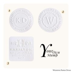 Monogram Embossers Are Great For Enhancing The Look Of Your Wedding Stationery And Favors Whether