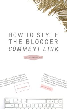 We already went over how to style your Blogger sidebar widget titles with background images, and since then I have received a few requests to show you how to style the comment link at the bottom of each post as well. Making your comment link appear bolder/brighter will help to separate it from that whole …