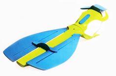 prosthetic fin for swimming. neptune. 2010.