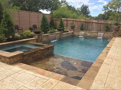 Amazing Natural Small Pools Design Ideas For Backyard - Garden & Outdoor - Piscinas Backyard Pool Landscaping, Small Backyard Pools, Backyard Pool Designs, Small Pools, Swimming Pool Designs, Landscaping Ideas, Acreage Landscaping, Backyard Ideas, Pool And Patio