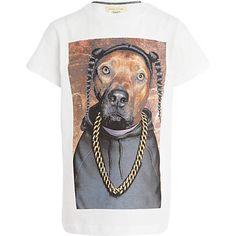Boys white Pets Rock rap dog t-shirt - print t-shirts - t-shirts / tanks - boys
