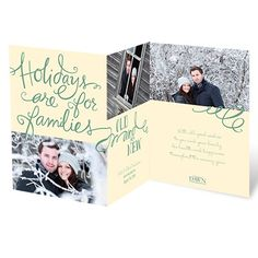 """Holidays are for families old and new"" - such a sweet greeting for a new couple or blended family. Love!  ""Old and New"" - available in your color choice!"
