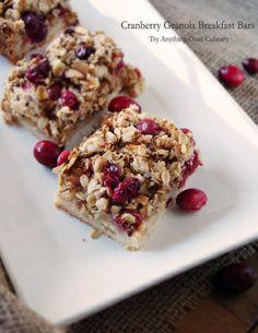 Cranberry Granola Breakfast Bars - tryanythingonceculinary.com