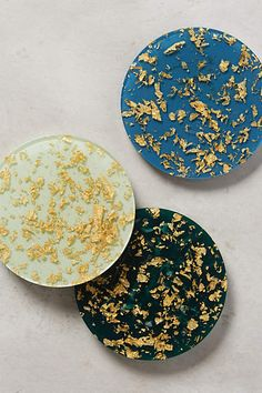 Gold Flecked Coasters from Anthropologie
