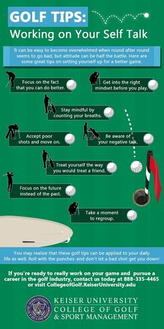 Golf Swing Drills Golf Tips - Working on Your Self Talk. The best golf tips to improve your golf game and shoot lower scores. Golf Chipping Tips For Beginners Tips And Tricks, Thema Golf, Golf Chipping Tips, Golf Putting Tips, Golf Tips For Beginners, Perfect Golf, Golf Player, Golf Training, Golf Lessons
