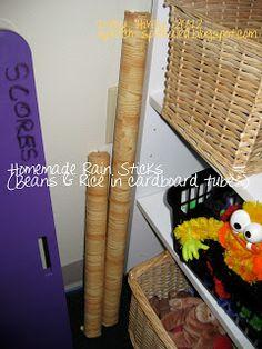 Homemade Rain Sticks