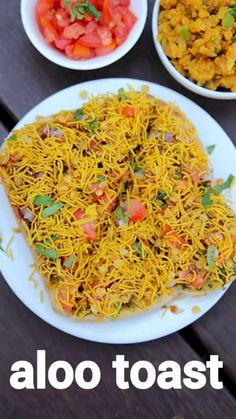 aloo toast recipe, aloo bread toast, aloo toast sandwich with step by step photo/video. popular open sandwich toast with spiced potato toppings Puri Recipes, Pakora Recipes, Chaat Recipe, Paratha Recipes, Veg Recipes, Spicy Recipes, Cooking Recipes, Best Food Recipes, Simple Food Recipes
