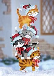 Christmas yard decoration - Stack Of Cats.
